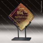 Artistic Gold Bronze Ramsey Wave Iridescence Trophy Award Employee Trophy Awards