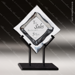 Artistic Silver Rebuke Plate Plaque Trophy Award Employee Trophy Awards