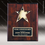 Engraved Rosewood Plaque Piano Finish Star Award Employee Trophy Awards