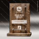 Acrylic Wood Accented Barnwood Trophy Award Employee Trophy Awards