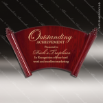 Engraved Rosewood Plaque Piano Finish Scroll Award Employee Trophy Awards