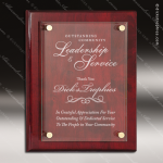 Engraved Glass Plaque Rosewood Piano Finish Floating Award Employee Trophy Awards