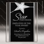 Engraved Acrylic Plaque Black & Silver Standing Star Award Employee Trophy Awards