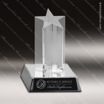 Acrylic  Clear Star Burst Column Award Employee Trophy Awards