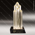 Acrylic Gold Accented Diamond Columns Award Employee Trophy Awards