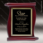 Engraved Rosewood Plaque Scroll Parchment Wall Placard Award Employee Trophy Awards