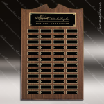 The Trevett Walnut Arch Perpetual Plaque  48 Black Plates Employee Trophy Awards