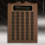 The Trevett Walnut Arch Perpetual Plaque 100 Black Plates Employee Trophy Awards
