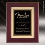 Engraved Rosewood Plaque Framed Black Plate Gold Border Wall Placard Award Employee Trophy Awards