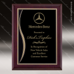 Engraved Rosewood Plaque Black Plate Award Employee Trophy Awards