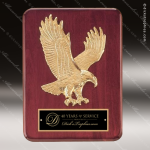 Engraved Rosewood Plaque Eagle Soaring Black Plate Wall Placard Award Employee Trophy Awards