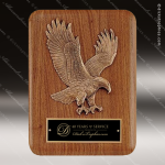 Engraved Walnut Plaque Eagle Casting Bronze Black Plate Wall Placard Award Employee Trophy Awards