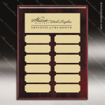 The Macari Rosewood Perpetual Plaque  12 Gold Plates Employee Trophy Awards