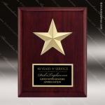 Engraved Rosewood Plaque Star Medal Black Plate Wall Placard Award Employee Trophy Awards