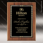 Engraved Walnut Plaque Black Braided Plate Wall Placard Award Employee Trophy Awards