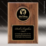 Engraved Walnut Plaque Black Plate Insert Logo Wall Placard Award Employee Trophy Awards
