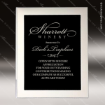 Engraved Silver Plaque Framed Aluminum Black Plate Wall Plaque Award Employee Trophy Awards