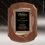 Engraved Walnut Plaque Black Plate Antique Bronze Frame Award Employee Trophy Awards
