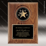 Engraved Walnut Plaque Black Plate Star Logo Wall Placard Award Employee Trophy Awards