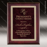 Engraved Rosewood Plaque Red Marble Plate Gold Border Award Employee Trophy Awards