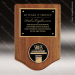 Engraved Walnut Plaque Black Plate Insert Cast Medal Wall Placard Award Employee Trophy Awards