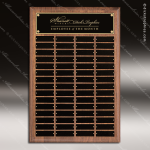 The Todesco Walnut Perpetual Plaque  60 Black Plates Employee Trophy Awards