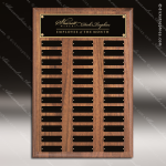 The Todesco Walnut Perpetual Plaque  36 Black Plates Employee Trophy Awards