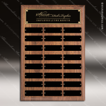 The Todesco Walnut Perpetual Plaque  24 Black Plates Employee Trophy Awards