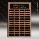 The Todesco Walnut Perpetual Plaque  48 Black Plates Employee Trophy Awards