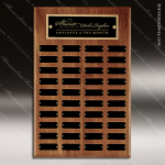 The Todesco Walnut Perpetual Plaque  40 Black Plates Employee Trophy Awards