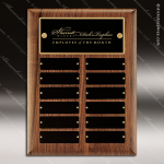 The Todesco Walnut Perpetual Plaque  12 Black Plates Employee Trophy Awards