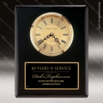Black Piano Finish Vertical Wall Clock Employee Trophy Awards