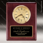 Rosewood Piano Finish Vertical Wall Clock Employee Trophy Awards