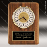 American Walnut Vertical Wall Clock. Employee Trophy Awards