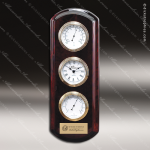 Corporate Rosewood Plaque Wall Clock Instruments Placard Award Employee Trophy Awards