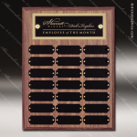 The Morvillo Laminate Walnut Perpetual Plaque  21 Black Plates Employee Trophy Awards