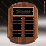 The Tritten Walnut Arch Perpetual Plaque  12 Black Plates Employee Trophy Awards
