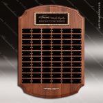 The Tritten Walnut Perpetual Arch Plaque  60 Black Plates Employee Trophy Awards