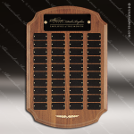 The Tritten Walnut Arched Perpetual Plaque  40 Black Plates Employee Trophy Awards