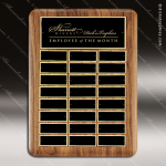 The Trueax Walnut Perpetual Plaque  24 Black Plates Employee Trophy Awards