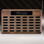 The Trinidad Walnut Perpetual Plaque  36 Black Plates Employee Trophy Awards