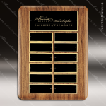 The Trueax Walnut Perpetual Plaque  12 Black Plates Employee Trophy Awards