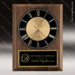 American Walnut Vertical Wall Clock Employee Trophy Awards