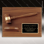 Engraved Walnut Plaque Gavel Mounted Sounding Block Wall Plaque Award Employee Trophy Awards
