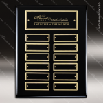 The Maberry Black Piano Finish Perpetual Plaque  12 Black Plates Employee Trophy Awards