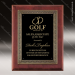 Engraved Rosewood Plaque Black Plate Cast Bronze Framed Award Employee Trophy Awards
