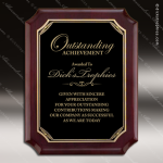 Engraved Rosewood Plaque Black Plate Gold Notched Border Award Employee Trophy Awards