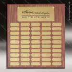 The Morvilla Laminate Walnut Perpetual Plaque  50 Gold Plates Employee Trophy Awards