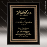 Engraved Black Piano Finish Plaque Black Plate Embossed Gold Border Wall Pl Employee Trophy Awards