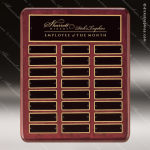 The Tagliarini Rosewood Perpetual Plaque  24 Black Plates Employee Trophy Awards